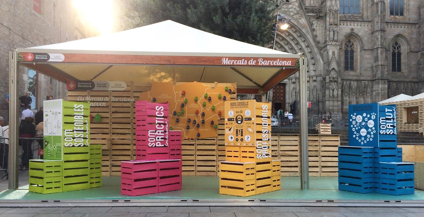 disseny-estand-promocio-mercats-barcelona-creartiva