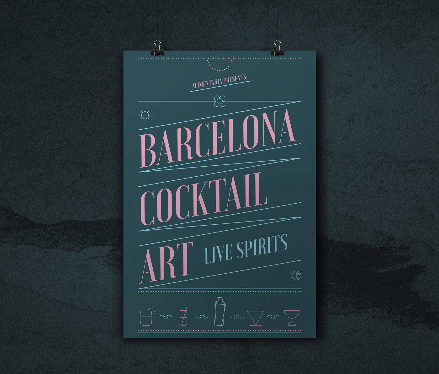 cartel barcelona cocktail feria