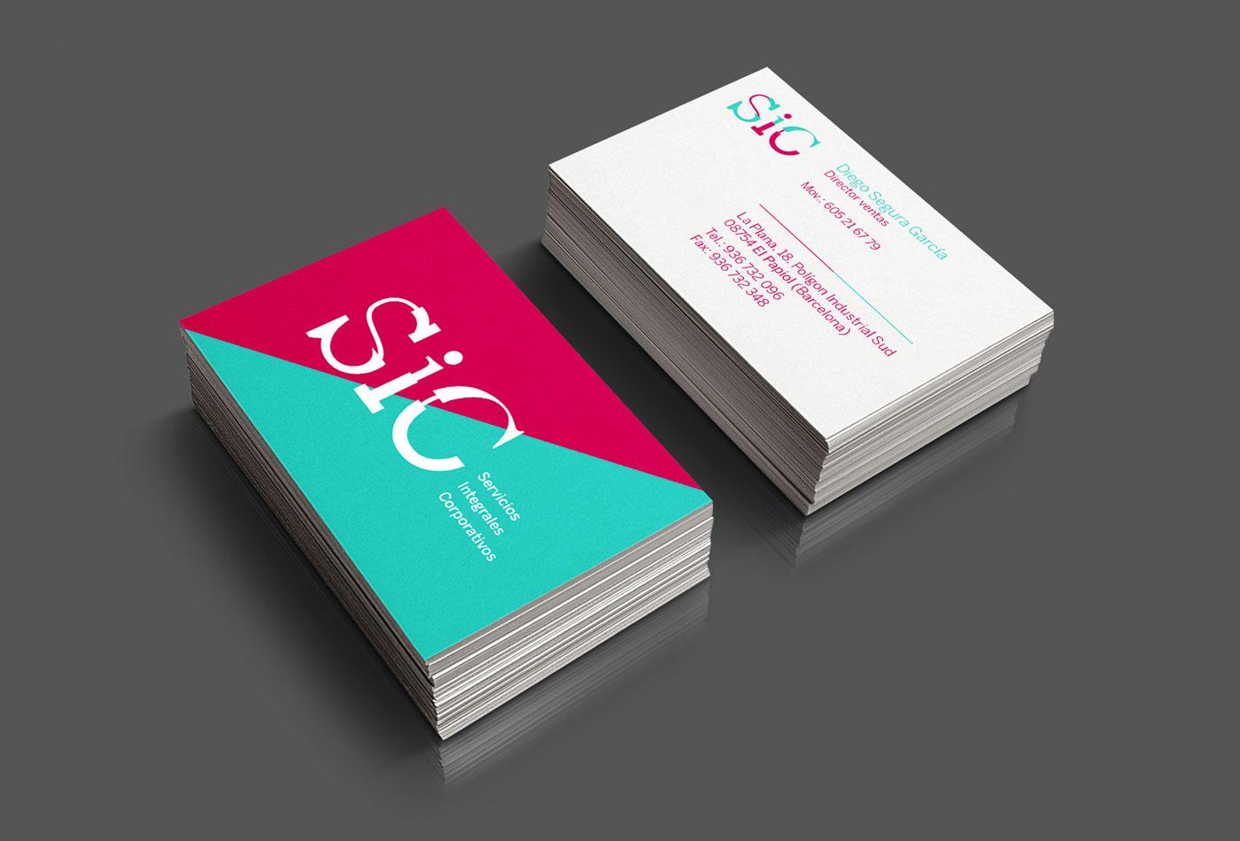 tarjetas visita sic branding