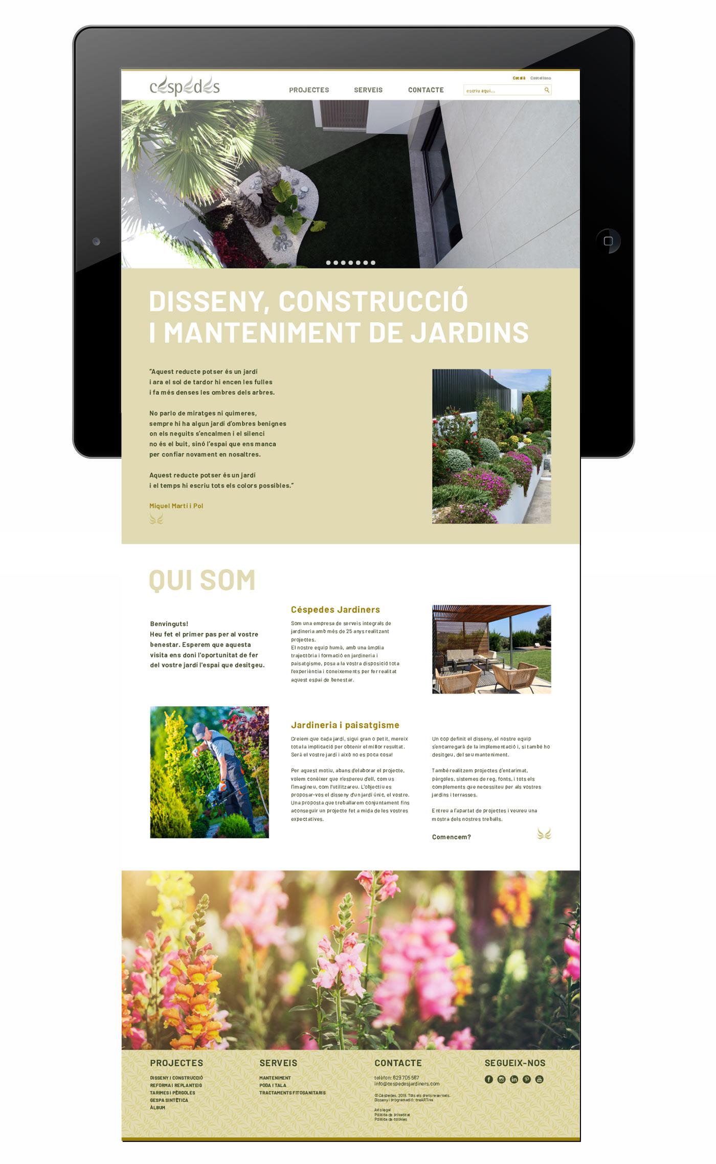 web jardiner disseny