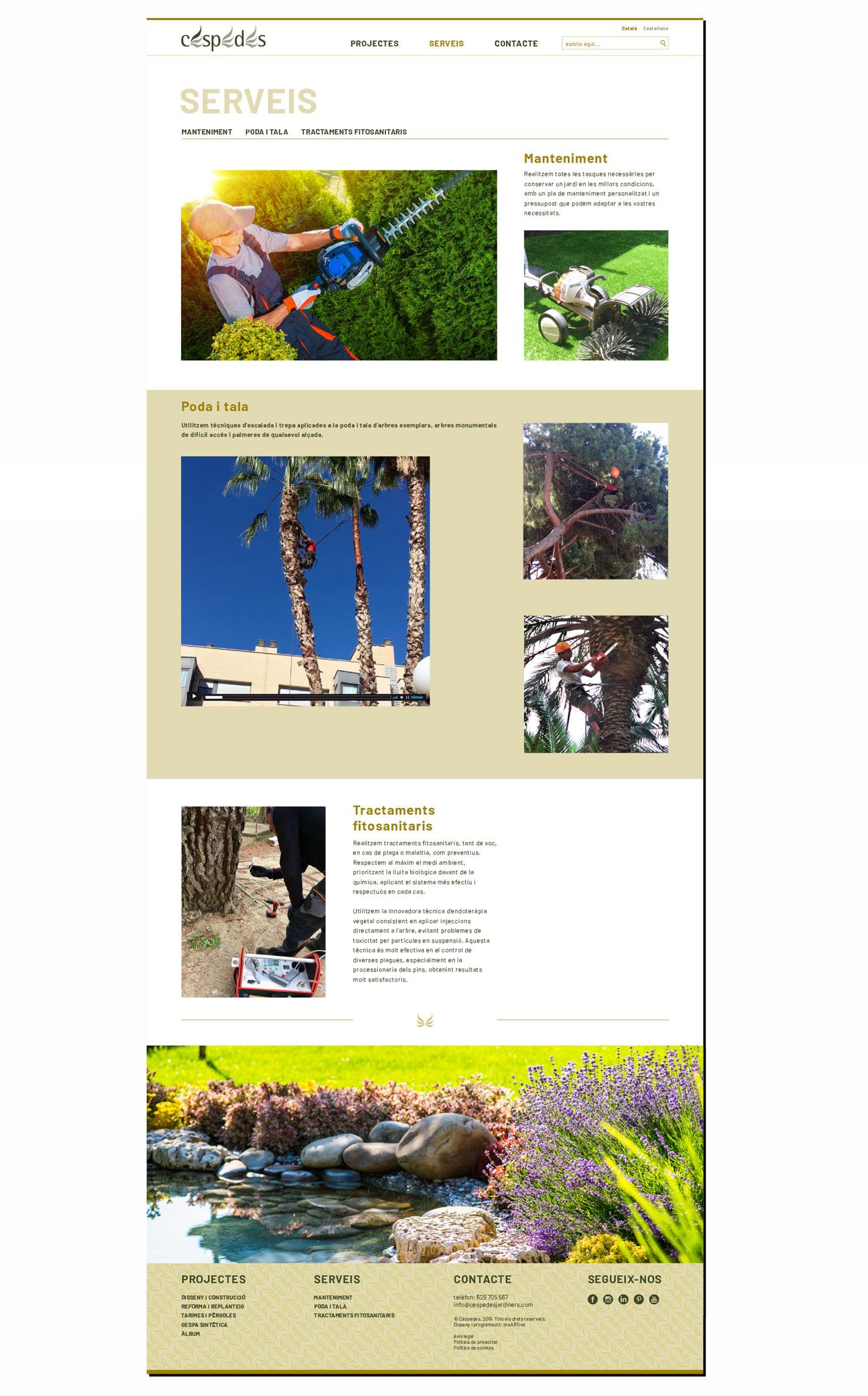 diseño web jardineros