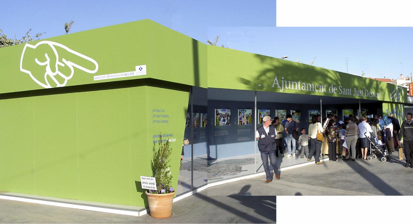 creartiva-Sant-Just-esvern-stand-ajuntament-creartiva-exposició-barcelona-disseny-grafic