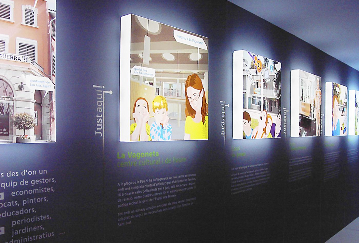 Sant-Just-esvern-stand-ajuntament-creartiva-exposició-barcelona-disseny-grafic-creartiva