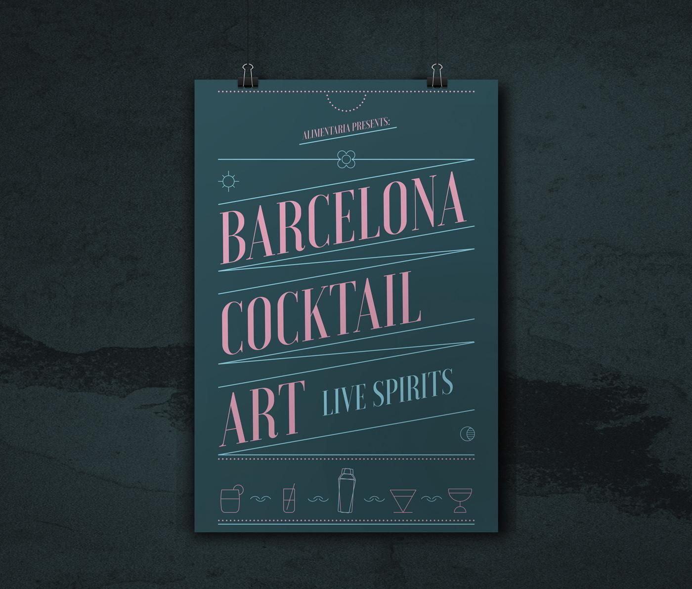 cartel barcelona cocktail feria