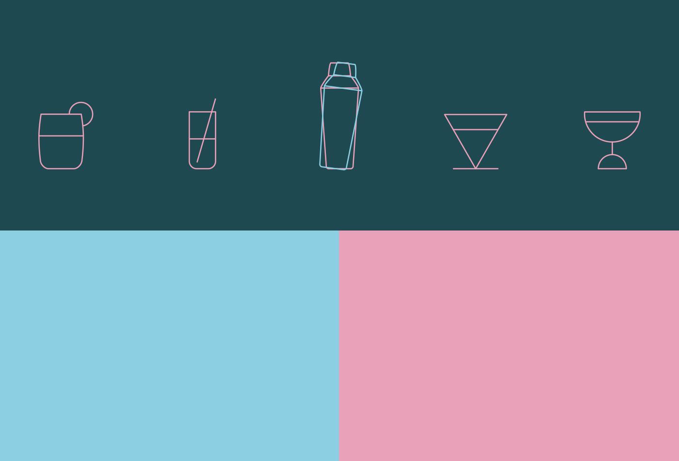 graphic design barcelona cocktail