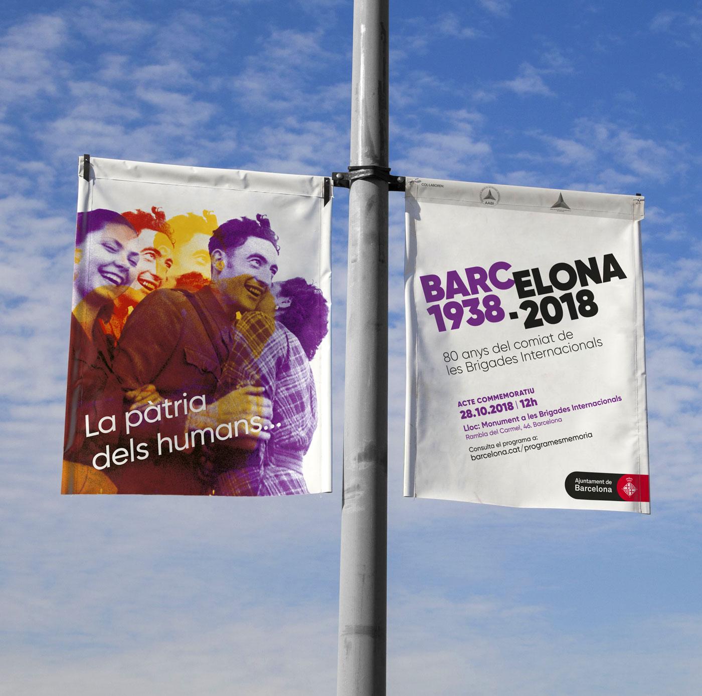 banderolas brigadas internationales barcelona diseño